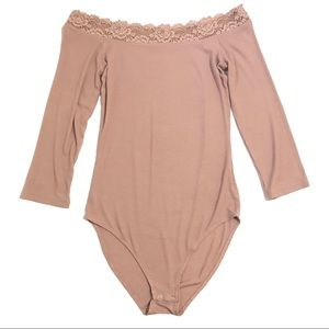 AE Soft and Sexy Blush Pink Bodysuit